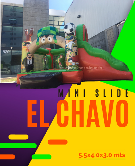 Mini Slide El Chavo inflable 2019 Brincolines Miguelin